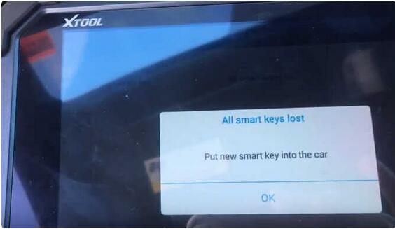XTOOL X100 PAD2 All Key Lost Programming for Honda Civic 2015 Smart Key 10