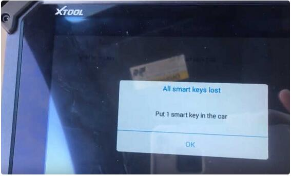 XTOOL X100 PAD2 All Key Lost Programming for Honda Civic 2015 Smart Key 6